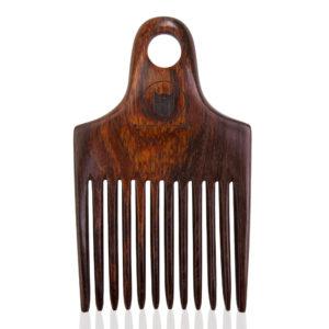 peigne afro en bois palissandre